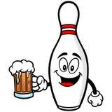 Kręgle szpilka z piwem ilustracji