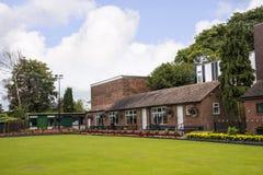 Kręgle zieleń w parku w targowym miasteczku Sandbach Anglia Obraz Royalty Free