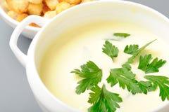 krämig soup Arkivfoton