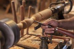 Kręcenia drewno Zdjęcia Stock