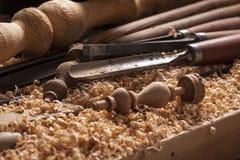 kręcenia drewno Zdjęcia Royalty Free