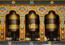 Kręcenie mantra w Bhutan Zdjęcia Stock