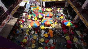 KR Flower Market, Bangalore, India stock video footage