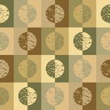 krąg zielone kwadraty Ilustracja Wektor