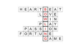 Kręgle Crossword Zdjęcie Royalty Free