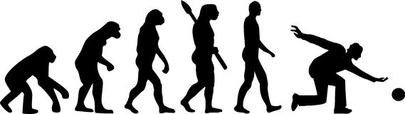Kręgle ewolucja Zdjęcia Stock