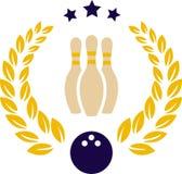 Kręgle logo Zdjęcie Stock