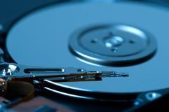 kör harddisken Arkivbild