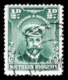 Kr?lewi?tko George na znaczkach pocztowych zdjęcie stock