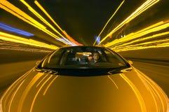 kör natten Arkivbilder