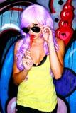 krańcowa żeńska makeup modela peruka Obrazy Royalty Free