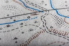 Krańcowa mapa makro- fotografia stock