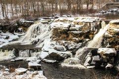 Krańcowi zima warunki w Pocono górach obraz stock