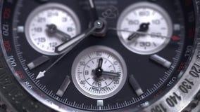 Krańcowy makro- szczegół szwajcar robić ogląda strzał z makro- obiektywu luksusowym męskim akcesorium dla biznesu Szczegół luksus zdjęcie wideo