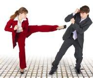 krańcowych mężczyzna biurowe bełta kobiety Zdjęcie Royalty Free