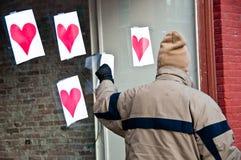Kraść serca na walentynka dniu Zdjęcia Royalty Free