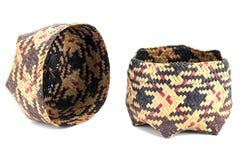KRA旅行棕榈叶纺织品 免版税库存照片
