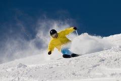 krańcowa narciarka Zdjęcia Royalty Free