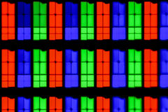 Krańcowy powiekszanie - RGB, IPS ekran przy 20x Obraz Royalty Free