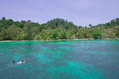Kra stopt eiland, Trang provincie, Thailand. Royalty-vrije Stock Afbeeldingen