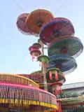 Kra-Thup festivaler i norr öst THAILAND royaltyfri fotografi