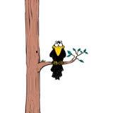 Kraai op boom vector illustratie