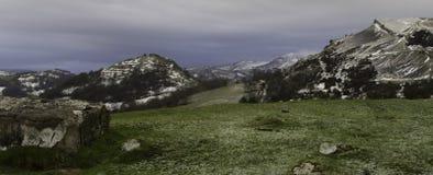 Kraaikasteel met Overblijfselen van de winter Stock Afbeeldingen