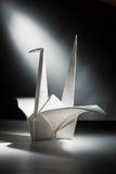 Kraan 2 van de origami Stock Afbeeldingen