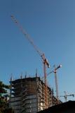 Kraan bij bouwwerf Stock Foto