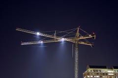 Kraan bij Nacht Royalty-vrije Stock Afbeeldingen