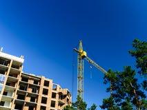 Kraan, bouw, de nieuwe bouw Royalty-vrije Stock Foto