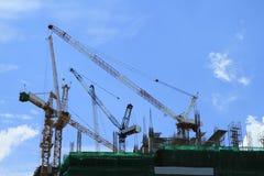 Kraan en bouwconstructie Stock Afbeelding