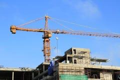 Kraan en bouwconstructie Stock Fotografie