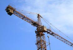 Kraan en bouwconstructie Royalty-vrije Stock Foto's