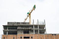 Kraan en bouwconstructieplaats 2 Royalty-vrije Stock Afbeelding