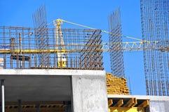 Kraan en bouwwerf Stock Afbeeldingen