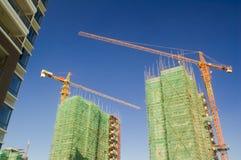 Kraan en de bouw Stock Foto
