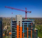 Kraan op bouwwerf in Denver Colorado Stock Afbeelding