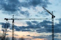 Kraanwoningbouw Stock Fotografie