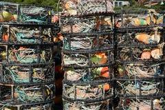 Krabów garnki Fotografia Stock