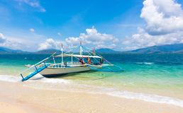 Krab łódź w Filipiny obraz stock