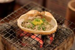 Krab głowa na grillu Fotografia Royalty Free