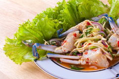 Krab sałatka (Yum Poo Ma) Obraz Stock