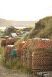 Krab visserijpotten stock foto