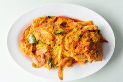 kraba curry smażący proszek Zdjęcia Royalty Free