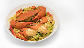 kraba curry smażący proszek Zdjęcia Stock