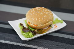 Kraba i algi hamburger Obraz Stock