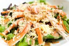 Kraba mięsa warzywa sałatka Zdjęcie Stock