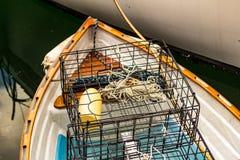 Kraba oklepiec i łódź Obrazy Royalty Free