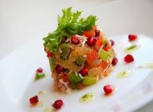 kraba owoc mięsa sałatka Zdjęcia Stock